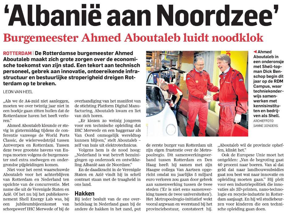 Figuur 2: AD/Rotterdams Dagblad, 24 mei 2014
